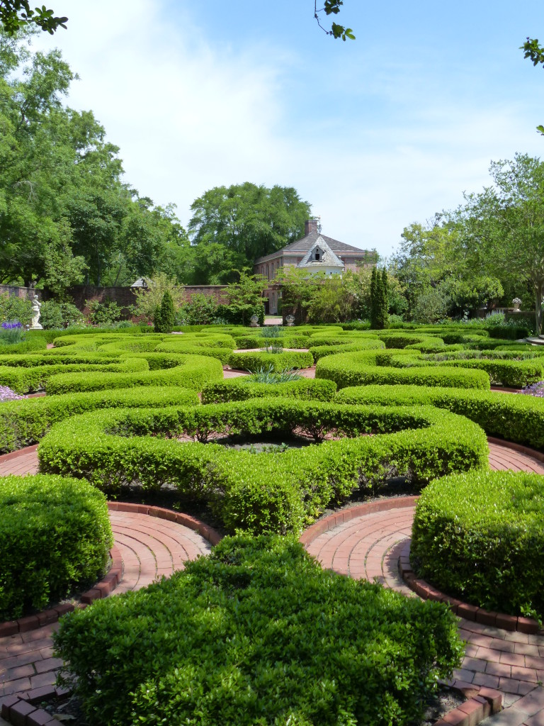 Formal boxwood gardens at Tryon Palace
